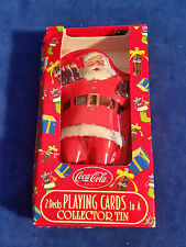 Coca Cola 2 Decks Playing Cards In Santa Collectors Tin - Coke