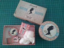 Vintage Ladies Face Powder, Armand bouquet box and weekend package