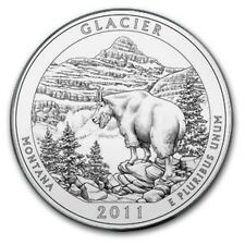 2011 America the Beautiful 5 Ounce Silver Uncirculated Coin - GLACIER 5 OZ