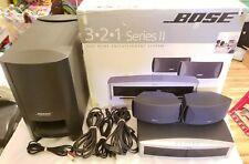 Bose 3-2-1 Series Ii Dvd/Cd/Radio Home Theater System w/ Original Box *No Remote