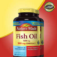 Nature Made Fish Oil 1200 mg, EPA, DHA & 360mg OMEGA-3, 400 Softgels