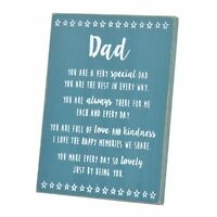 Special Dad Sentiments From The Heart Freestanding Wooden Plaque Gift