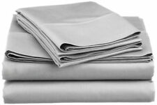 8,10,12,15 Inch Deep Pkt Silver / Light Gray Solid Bedding Items 1000 TC