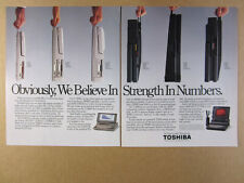 1988 Toshiba T1000 T1200 T3100 T3200 T5100 Portable Computers vintage print Ad