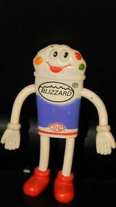 """Dairy Queen Bendable Blizzard Toy Ice Cream  DQ Kids Pick-Nic Meals 4""""  Bendy"""