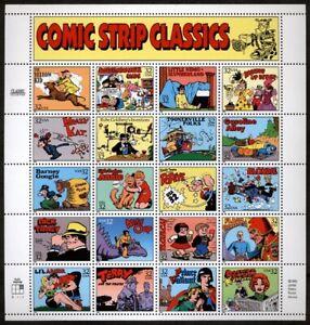US Scott 3000 Comic Strip Full pane of 20 Mint NH