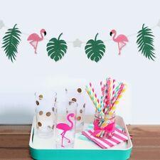 Flamingo Bunting Felt Banner Garland Hawaiian Tropical Birthday Party Decoration
