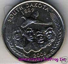 2006 P & D South Dakota State Quarter Pair Gem Bu Satin Finish No Reserve