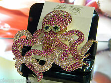 Kirks Folly Queen of the Ocean Octopus Pin/Enhancer  LIMITED production  freeshp