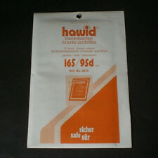 Hawid Stamp Mounts Size 165/95d CLEAR Background Pack of 10