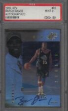 BARON DAVIS 1999-00 SPX #93 PSA 9 ROOKIE AUTO CARD #93     /500