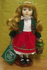 IRELAND Irish Collectors porcelain dolls Meave red skirt & green jacket