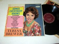 TERESA BREWER Songs Everybody Knows CORAL Stereo VG++/NM!