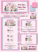 Little Pink Girls Boutique DELUXE EBAY STORE DESIGN
