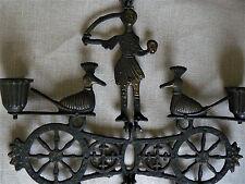 Rare ancien bougeoirs chandeliers reliquaire- bronze articulées- saré-mystique