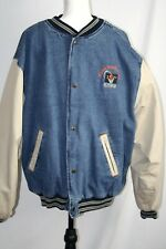 "Cavs NBA Vintage bomber sports jacket men's 55"" chest denim, quilted lining"