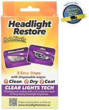Headlight Restore Kit Car Truck Lens UV Protection Wipes Clear Lights Cleaner US
