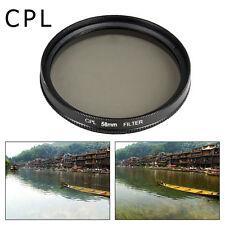 UV CPL FLD Filter + Lens Hood 58mm for Canon 70D 60D 700D 650D 1100D 600D LF136