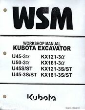 Kubota U45-3a U50-3a U45S,-3S,KX121-3a KX161-3a KX121-3s Workshop Service Manual