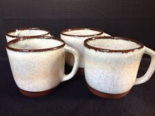 4 Mid Century Modern Walter ROCHE CERAMICS Studio Art Pottery Coffee Mugs