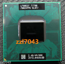 Intel Core 2 Duo T7700 SLAF7 SLA43 2.4 GHZ 4MB 800MHZ Socket P Processor cpu