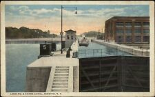 Minetto NY Lock #5 Barge Canal c1920 Postcard