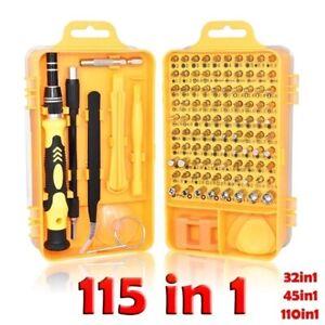 115 In 1 Multi-Bit Repair Tools Kit Set Torx ScrewDrivers For Gadgets PC Laptop