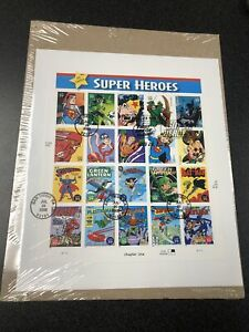 US 4084 DC Comic Super Heroes Souvenir Page  First Day Of Issue Original Wrapped