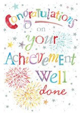 "Congratulations Well Done Hand Finished Card Size 6.75"" x 4.75"" By Lings IC158"