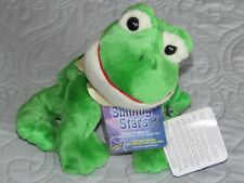 Nwt Russ Shining Stars green plush stuffed frog