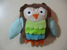 "5"" plush rattle Owl doll, made by Skip Hop, good condition"