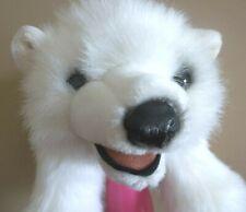 Folkmanis Polar Bear Cub plush Stuffed Toy Hand Puppet valentine's day