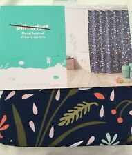 Pillowfort Floral Festival Fabric Shower Curtain kids bath blue 72x72 new #610