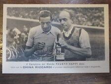 CARTOLINA PUBBLICITARIA*FAUSTO COPPI -CHINA RICCARDI-TIVOLI*-ANNI '40 -POST CARD
