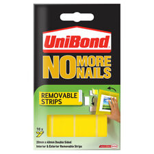 10 x NO MORE NAILS Removable Strips/20mmx40mm/DoubleSided/Up to 2kg per strip