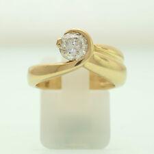 Gold Ring 585er Gelbgold 14K | 7,6g | Gr. 54 | 1 Brillant ca. 1,04ct. H/P1