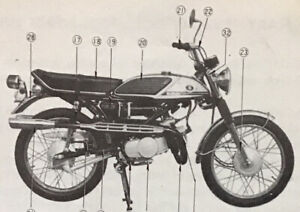 Suzuki T125-ll Stinger Model Original Owners Manual 1970-71