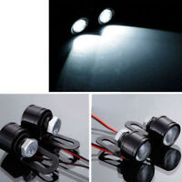 2 Pcs White LED Motorcycle Handlebar Spotlight Headlight Driving Light Fog Lamp