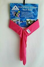 Cooling Towel Summer Outdoor Chilling Scarf Band Pink Techniche HyperKewl New