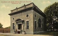 C.1910 Lansdowne & Darby Saving Fund, Lansdowne, Pa. Vintage Postcard P137