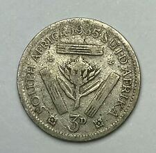 Dated : 1935 - Silver Coin - South Africa - Threepence - 3d Coin - King George V