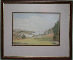 Original Watercolour Painting Art LOCH FYNE, TARBERT, SCOTLAND by MARY Y SMITH