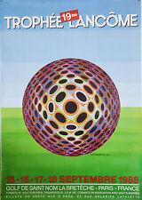 AFFICHE ANCIENNE ORIGINALE -  TROPHÉE LANCOME - 1988 - VASARELY -120 x160 CM