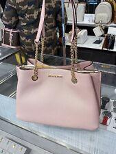 NWT Michael Kors Teagen Large Pebbled Leather Tote Shoulder Bag Blossom