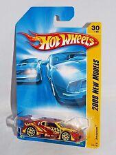 Hot Wheels 2008 New Models #30 Amazoom Mtflk Dark Orange w/ Yellow 10SPs