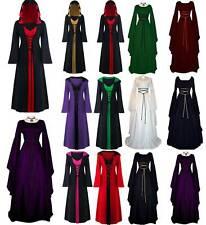 Christmas Women Renaissance Victorian Medieval Gothic Long Dress Gown Costume
