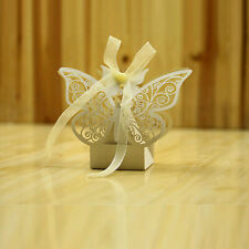 50X Butterfly Laser Cut Candy Gifts Boxes Favor Boxes Wedding Party Favors Boxes