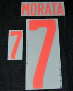 Official Spain Morata 7 euro 2020 Football Shirt Name/Number Set Away