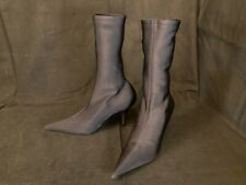 NEW Balenciaga $1290 Knife Microfiber Boot, Black, size 37