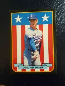 Orel Hershiser Los Angeles Dodgers 1989 MVP Shield #8 Pacific Cards & Comics Odd